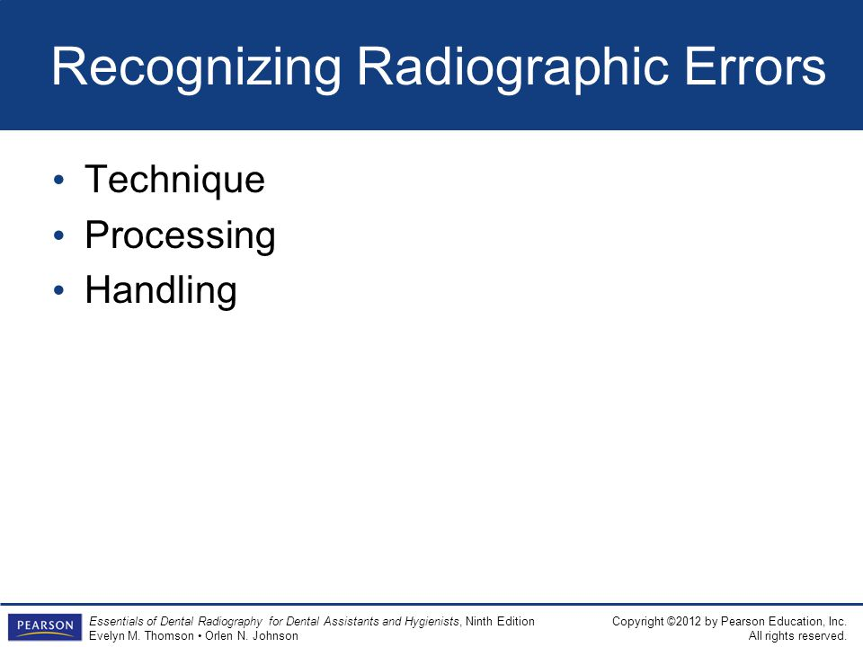 Recognizing Radiographic Errors