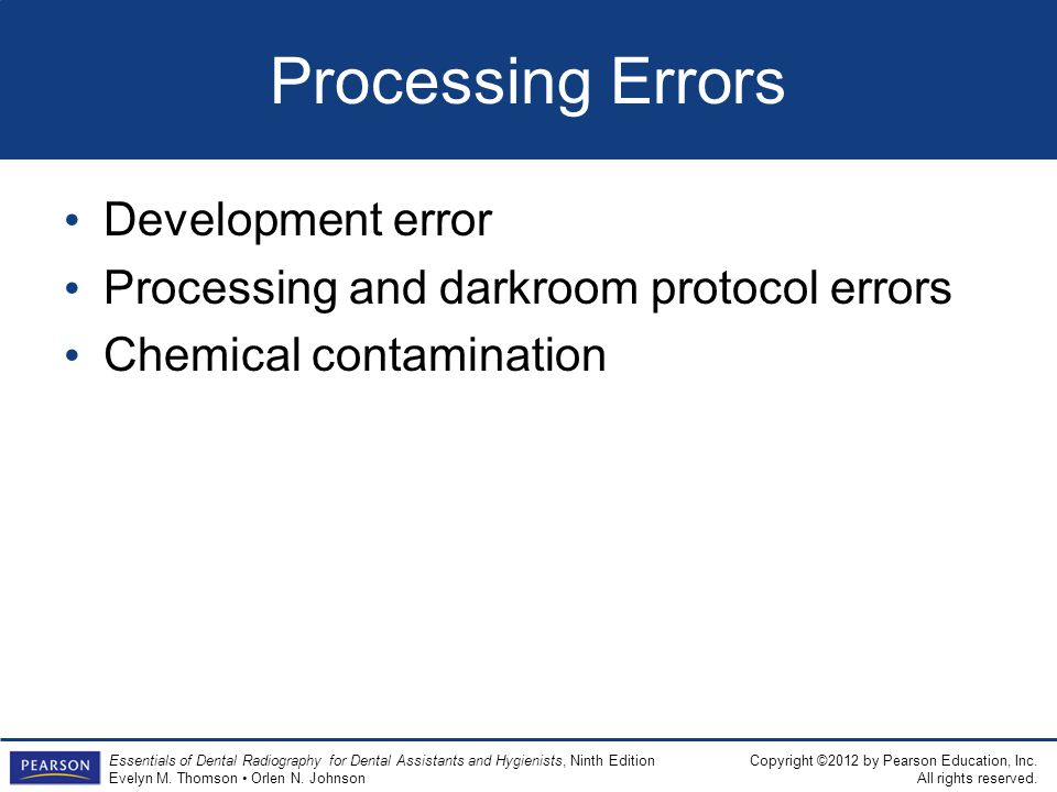 Processing Errors Development error