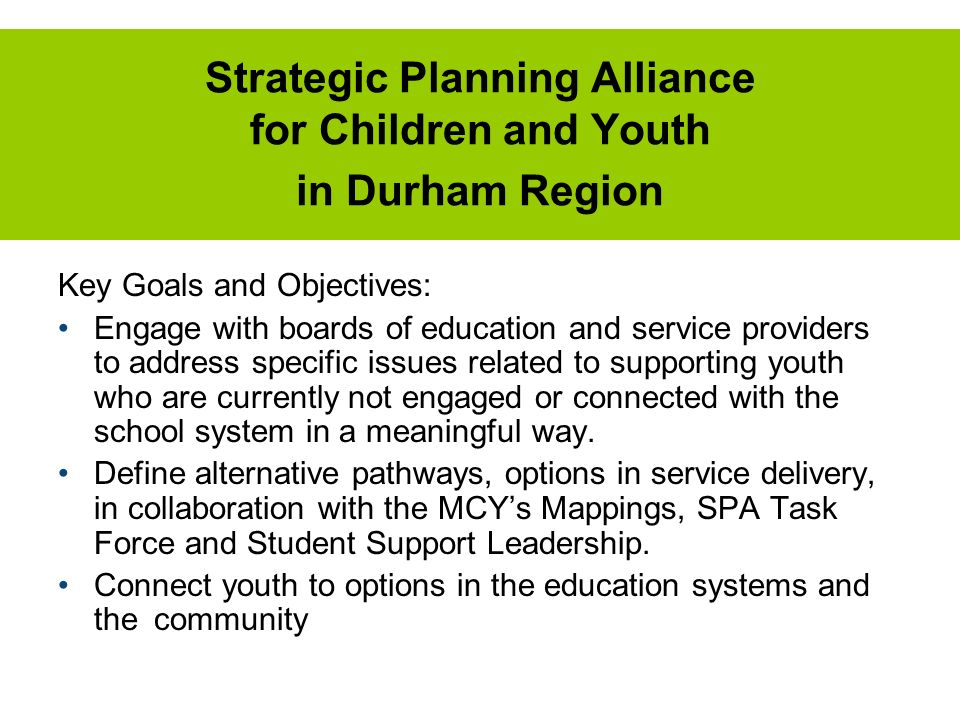 Strategic Planning Alliance for Children and Youth in Durham Region