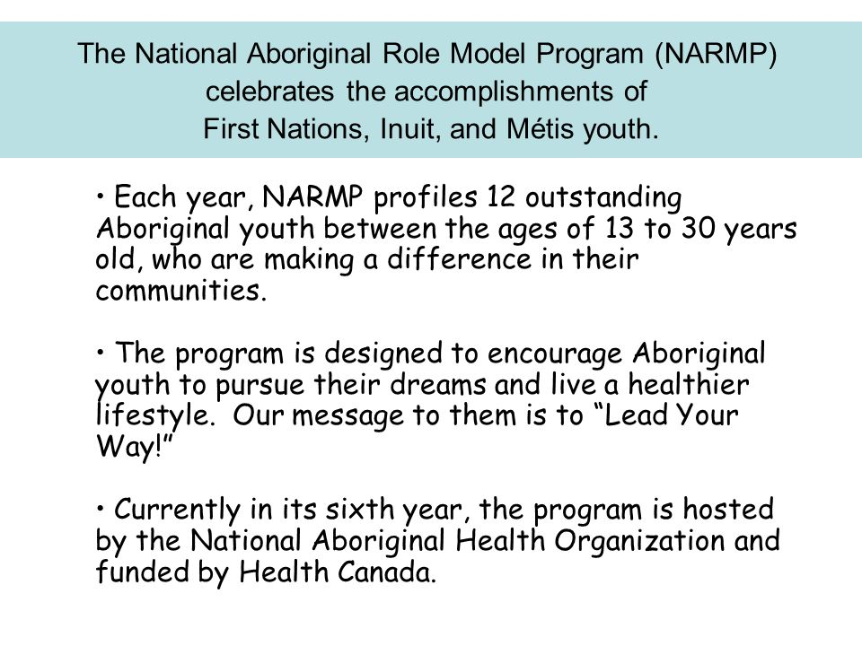 The National Aboriginal Role Model Program (NARMP)