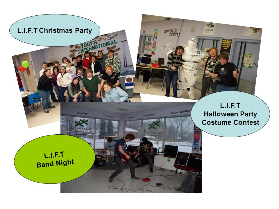 L.I.F.T Christmas Party L.I.F.T Halloween Party Costume Contest L.I.F.T Band Night