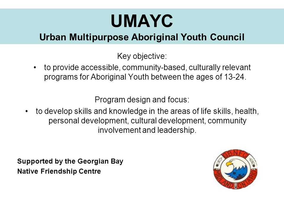 UMAYC Urban Multipurpose Aboriginal Youth Council
