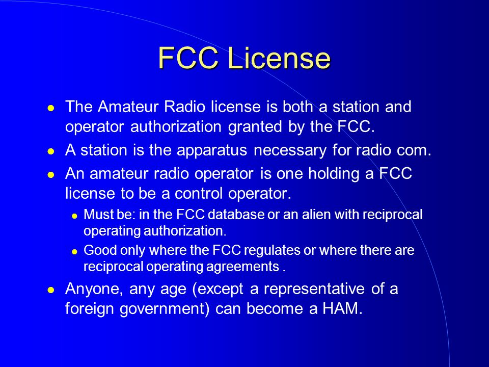 Why do you need a ham radio license for flying fpv drones
