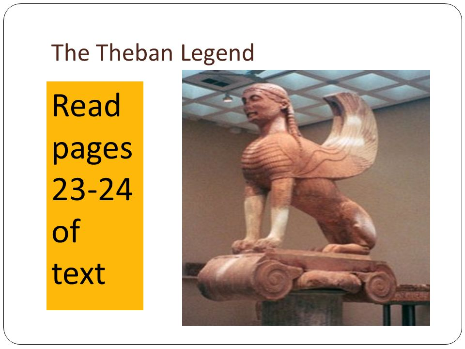 The Theban Legend Read pages of text