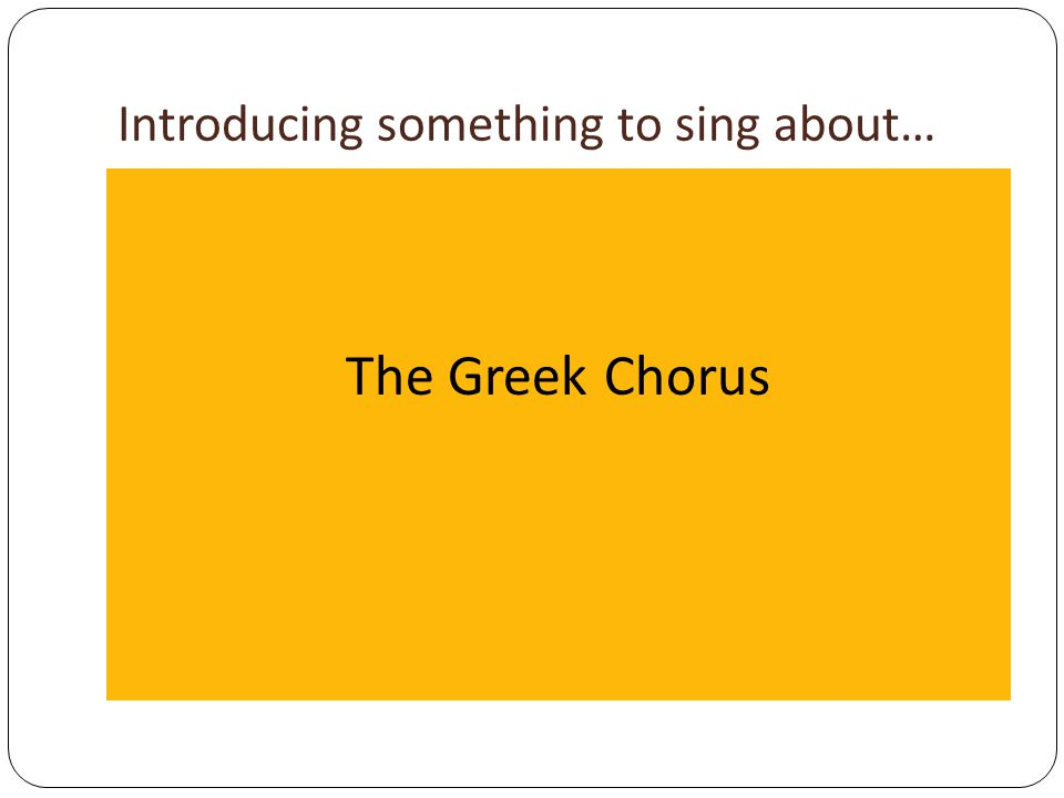 Introducing something to sing about…