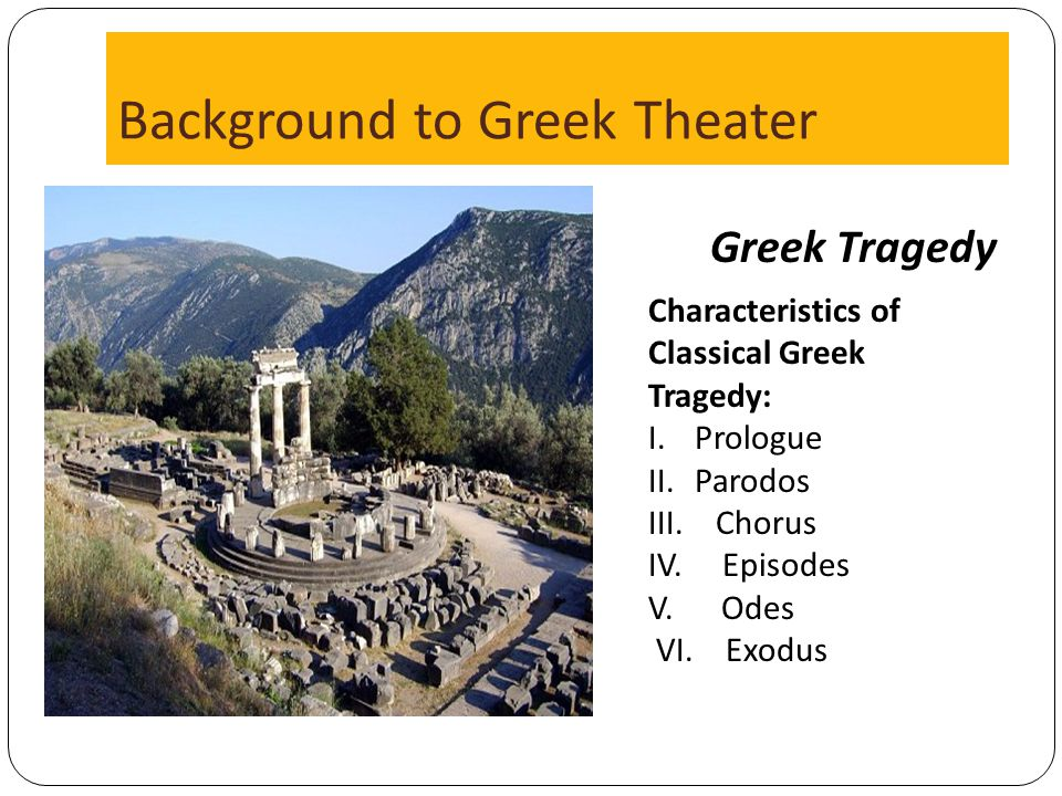 Background to Greek Theater