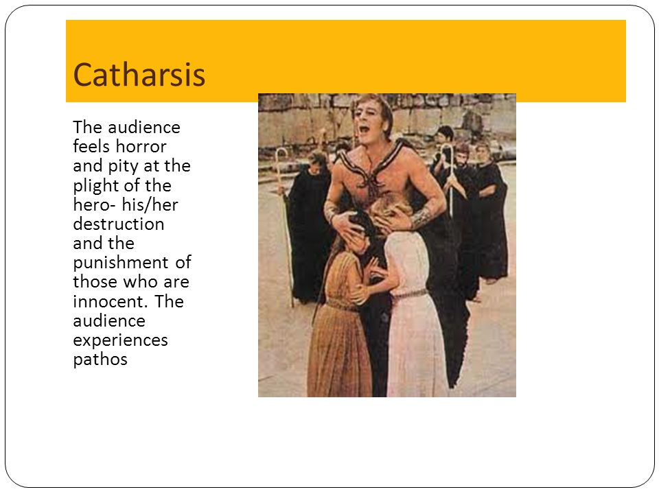 oedipus catharsis The catharsis is experienced by the main character, king oedipus, but also by the audience of the play catharsis is the release of emotion through art.