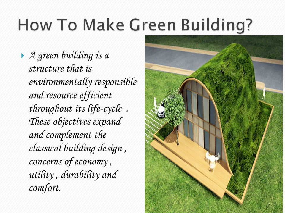 How To Make Green Building