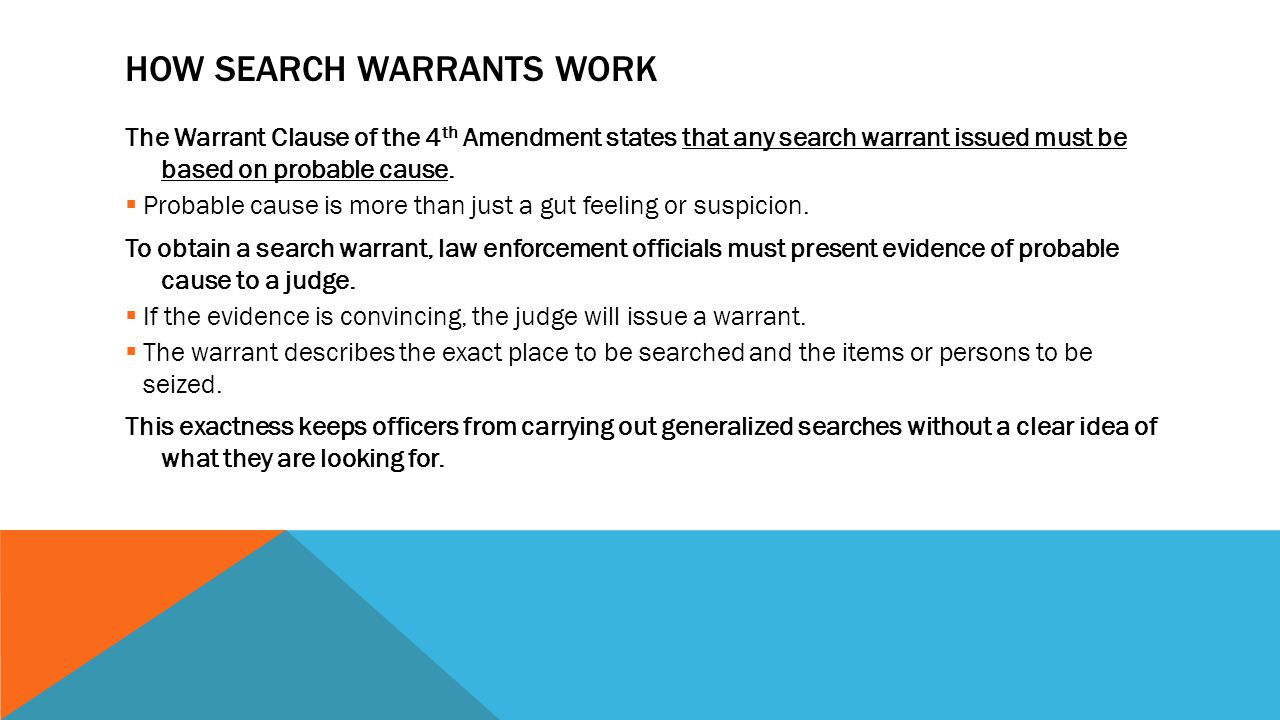 how is a search warrant issued