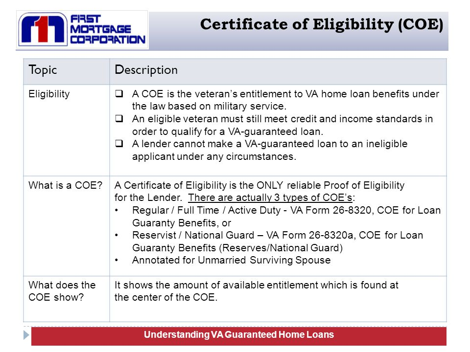 va guaranteed home loans training - ppt download