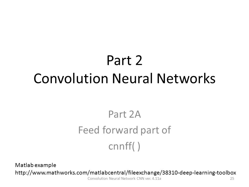 Convolution Neural Network CNN