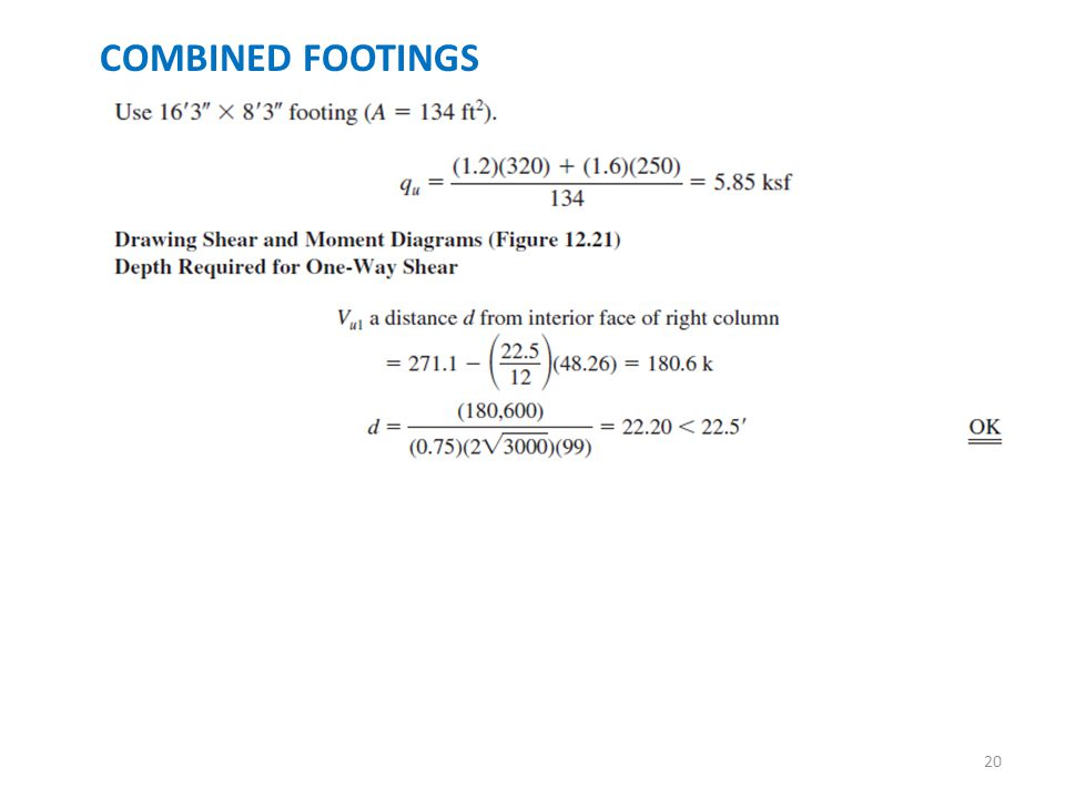 RECTANGULAR ISOLATED FOOTINGS - ppt download