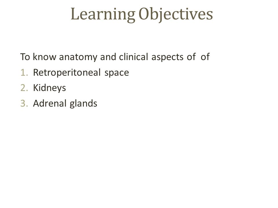 Clinically Oriented Anatomy of Retroperitoneum, Kidneys and - ppt ...
