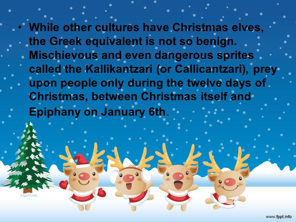 CHRISTMAS TRADITIONS IN GREECE - ppt download