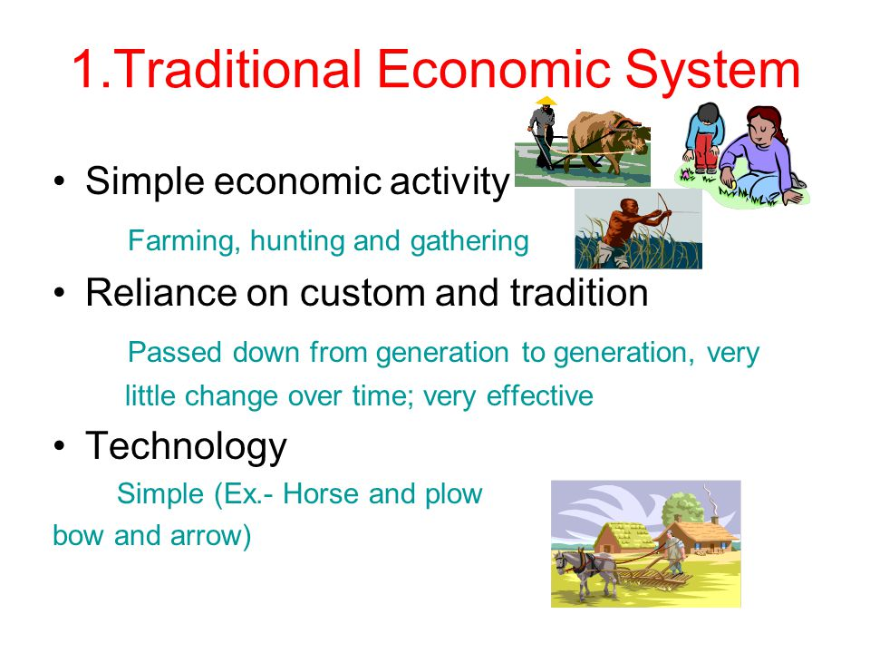 Economics/business: economic systems slides presentation project.