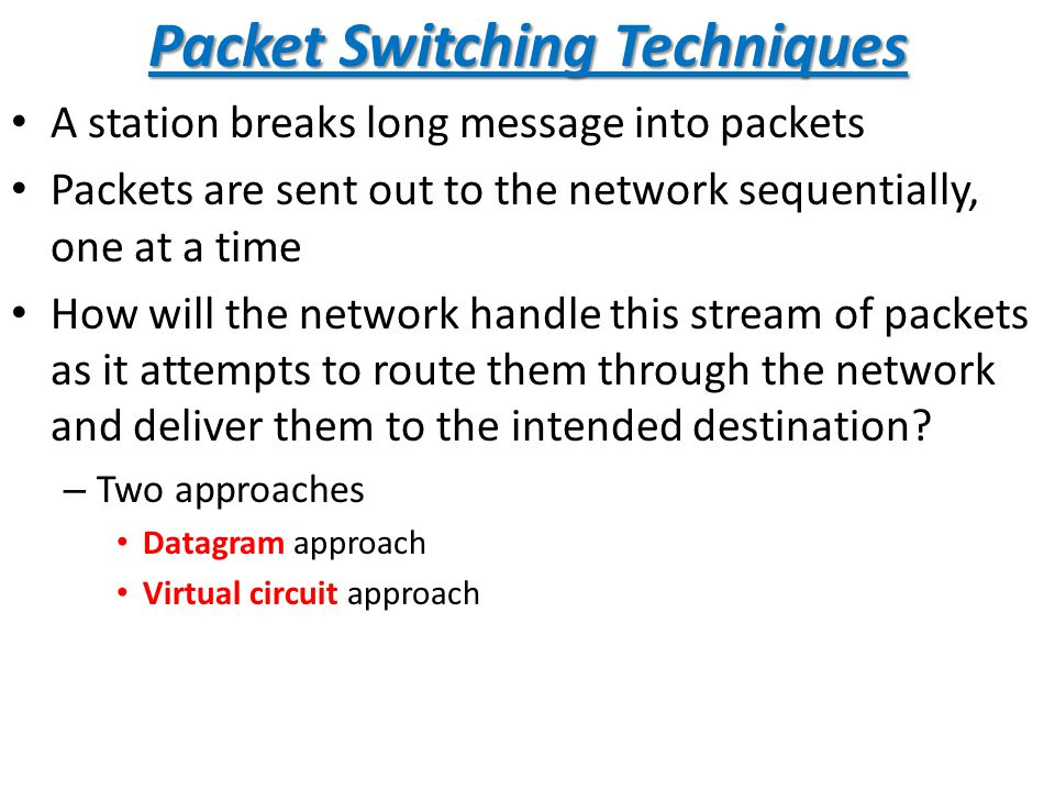 PACKET SWITCHING TECHNIQUES PDF