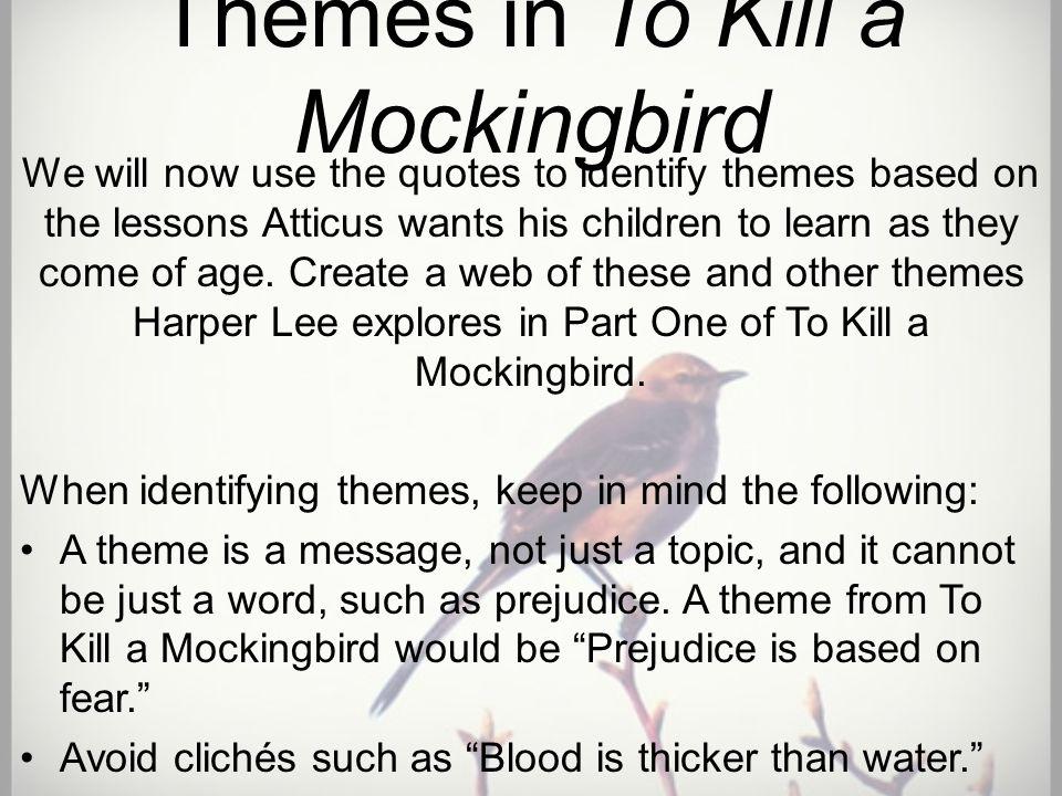 main message of to kill a mockingbird