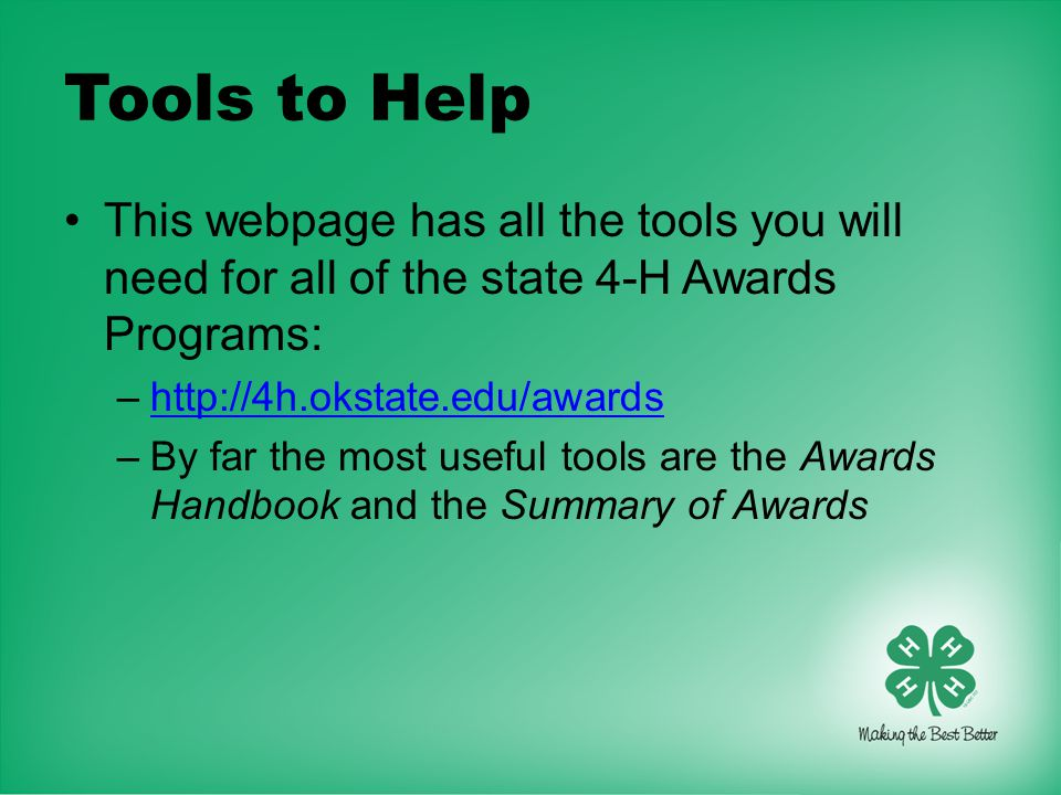 The Oklahoma 4-H Record Book - ppt video online download