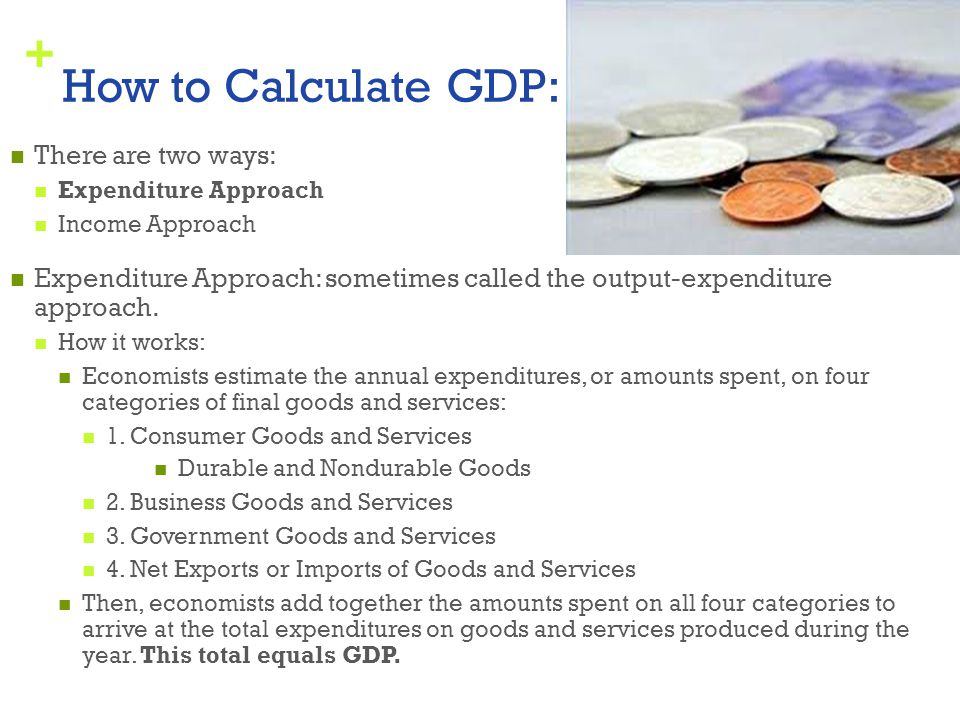 How to Calculate GDP: There are two ways: