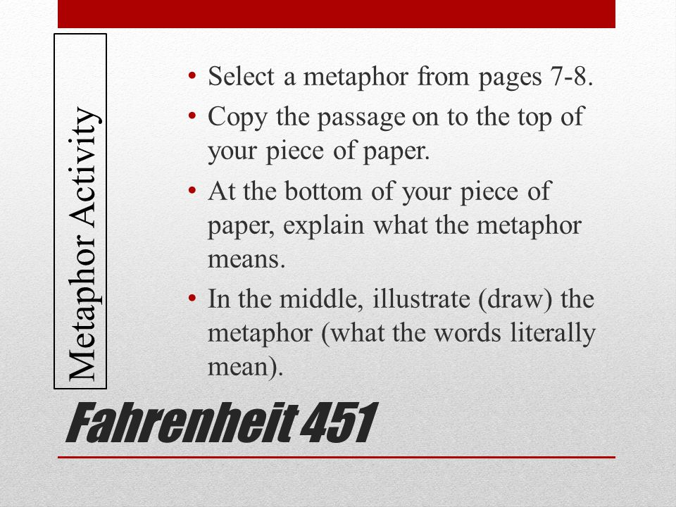 "an analysis of the fahrenheit 451 a dystopian novel by ray bradbury The opening line of fahrenheit 451 witnesses to the atmosphere ray bradbury could create in his writing: ""it was a pleasure to burn"" immediately, fahrenheit 451 offers something tangible as well as sensate (click the link below to read the full essay by bradley j birzer."