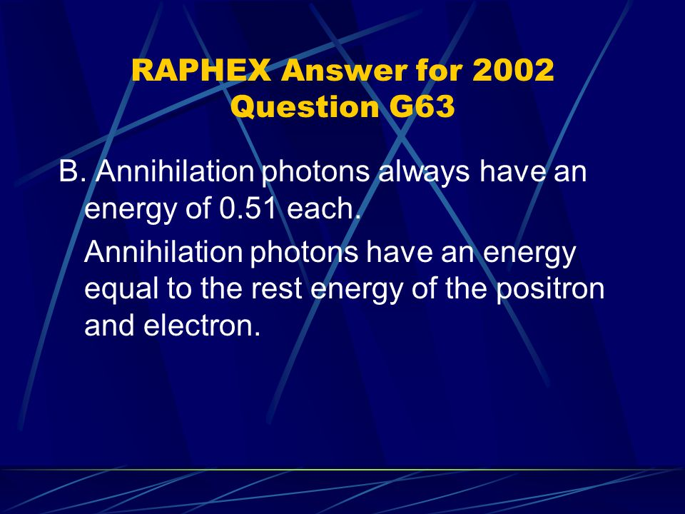 RAPHEX Answer for 2002 Question G63