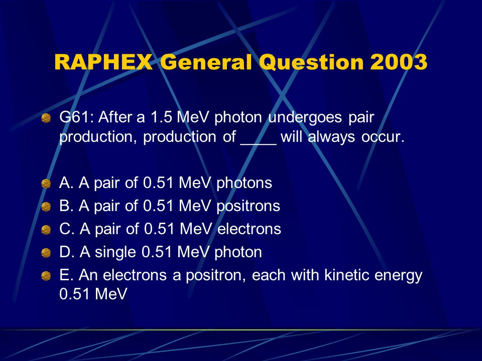 RAPHEX General Question 2003