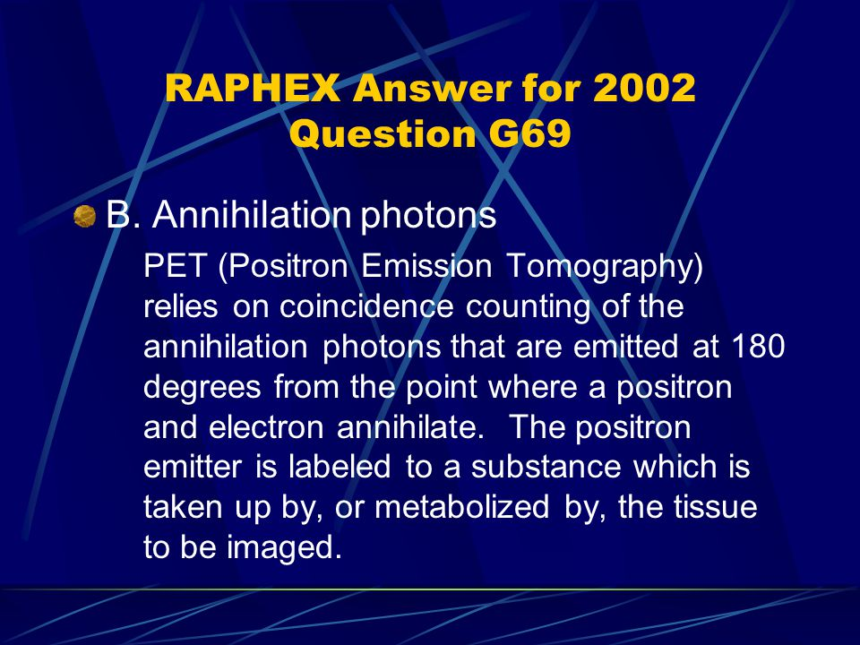 RAPHEX Answer for 2002 Question G69