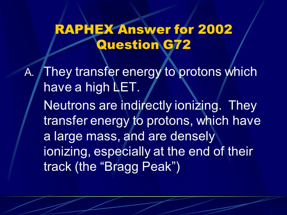 RAPHEX Answer for 2002 Question G72