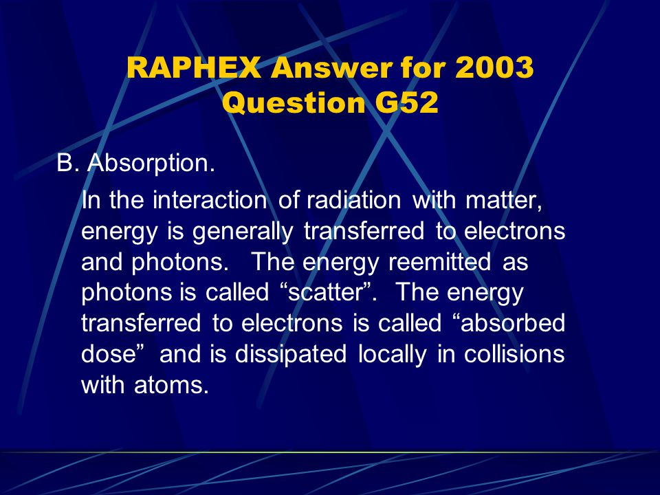 RAPHEX Answer for 2003 Question G52