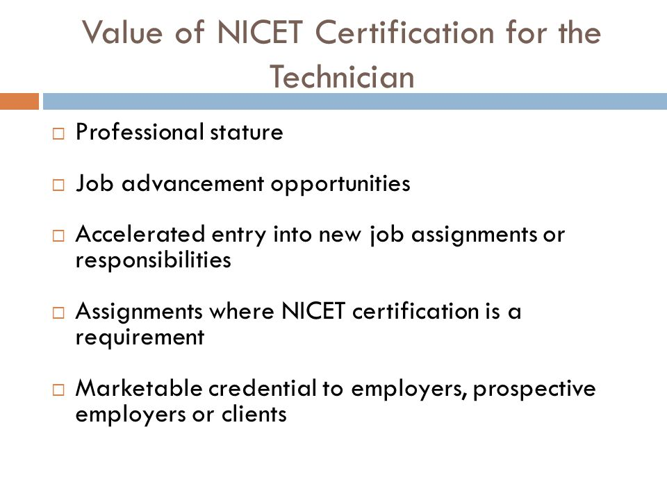 An Overview Of Nicet Certification Ppt Video Online Download