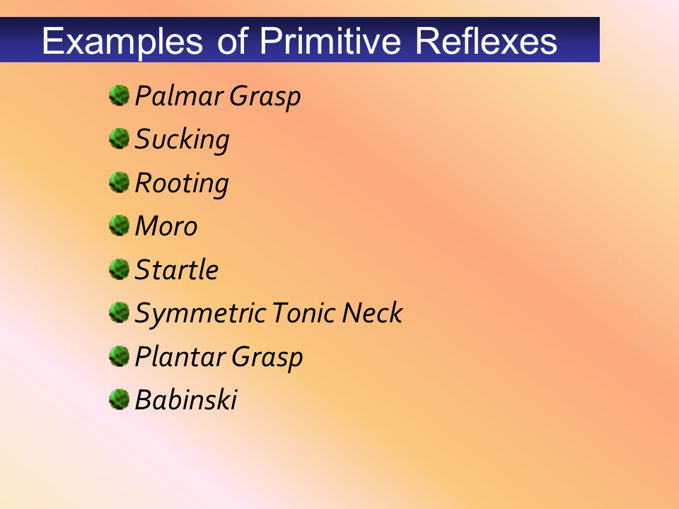 Examples of Primitive Reflexes