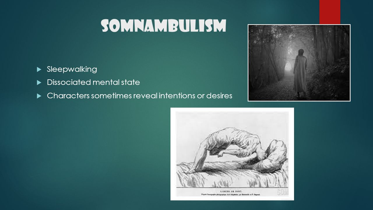 Somnambulism Sleepwalking Dissociated mental state