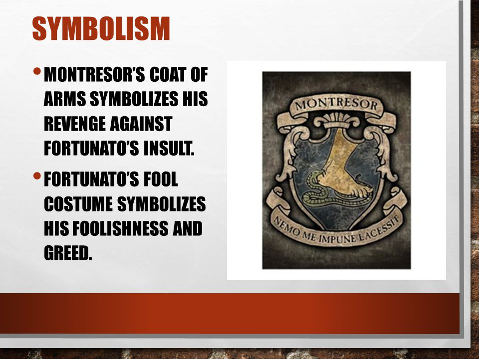 symbolism and irony in cask of amontillado The cask of amontillado is a creepy short story written by edgar allan poe the story is rife with examples of symbolism and irony here we break down some of these symbols.