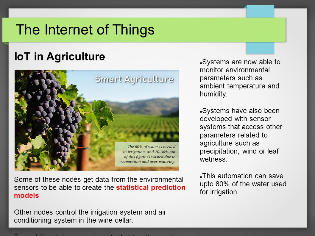 GLOBAL BENEFITS: INTERNET OF THINGS - ppt download