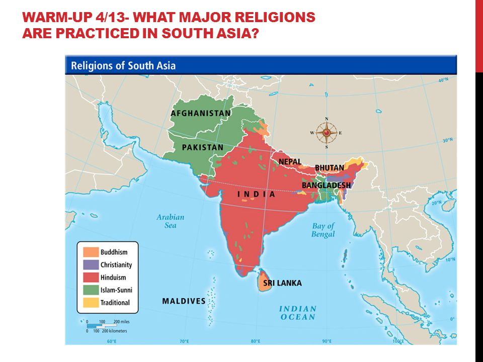 Religion Map Of South Asia.South Asia Ppt Video Online Download