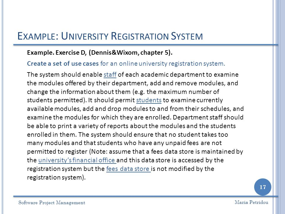 Lecture 8 use case analysis ppt video online download example university registration system ccuart Choice Image