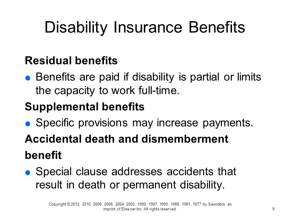 disability income insurance and disability benefit programs pptdisability insurance benefits