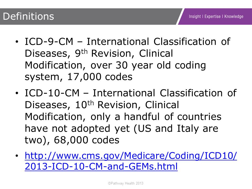 the advantages of the international classification of diseases for clinical modification The new classification system provides significant improvements through greater detailed information and the ability to expand in order to capture additional advancements in the current system, icd-9-cm volume 3 (international classification of diseases, 9th edition, clinical modification, does not.