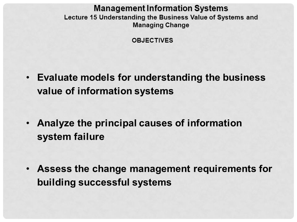 reasons for information system failure
