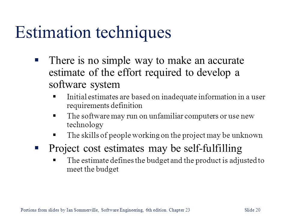 Software Cost Estimation - ppt video online download