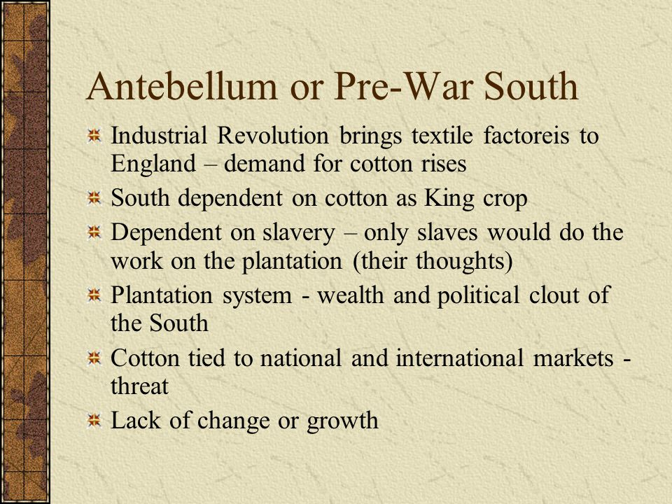 plantation crops and the slavery system