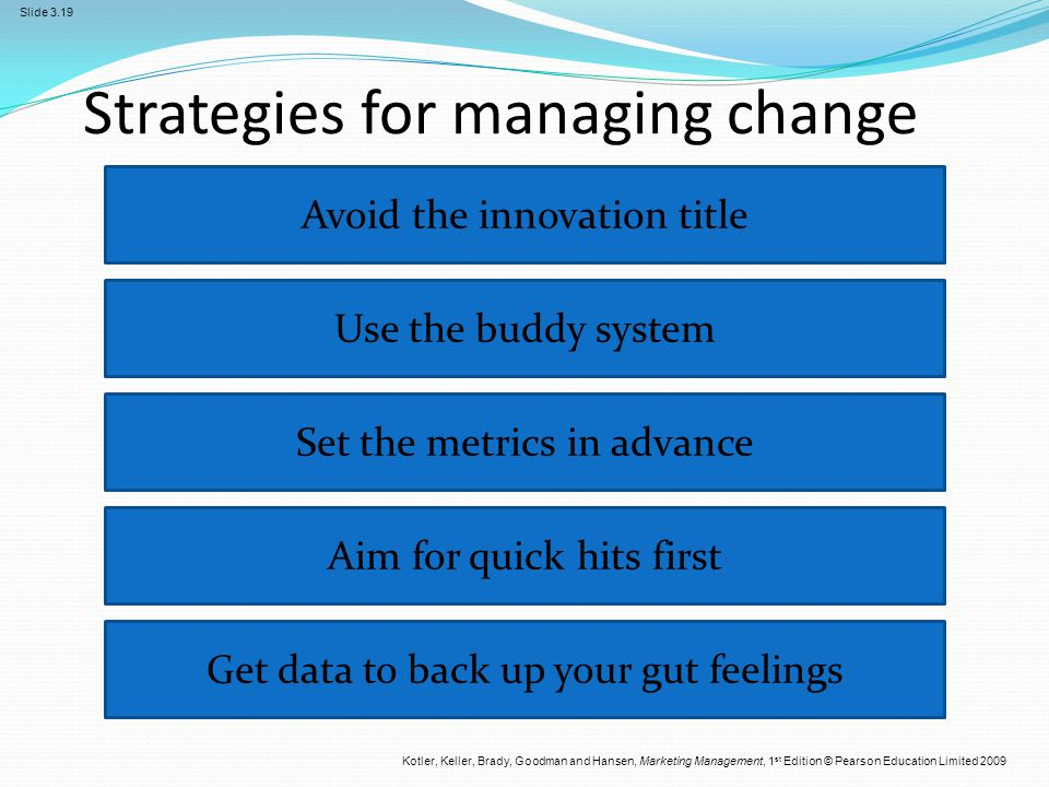 Strategies for managing change