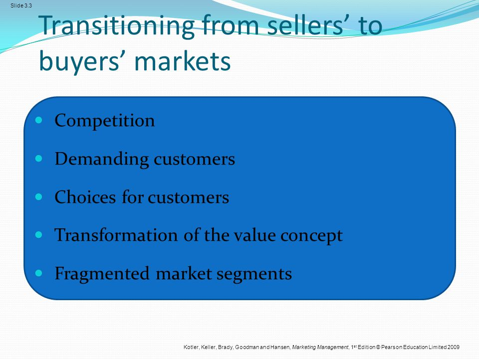 Transitioning from sellers' to buyers' markets