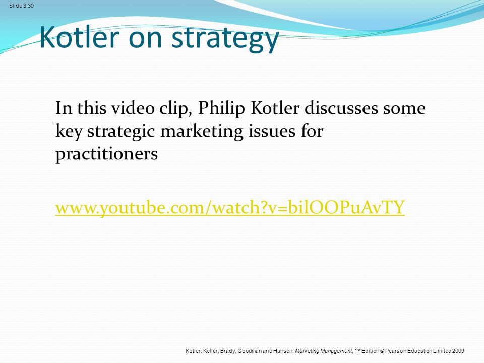 Kotler on strategy