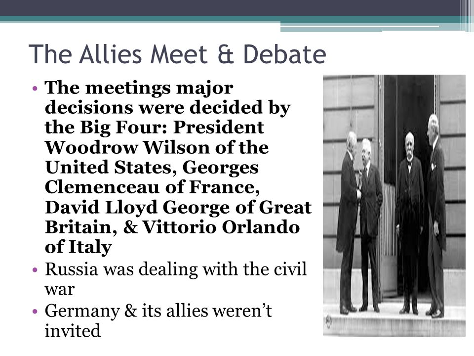The Allies Meet & Debate