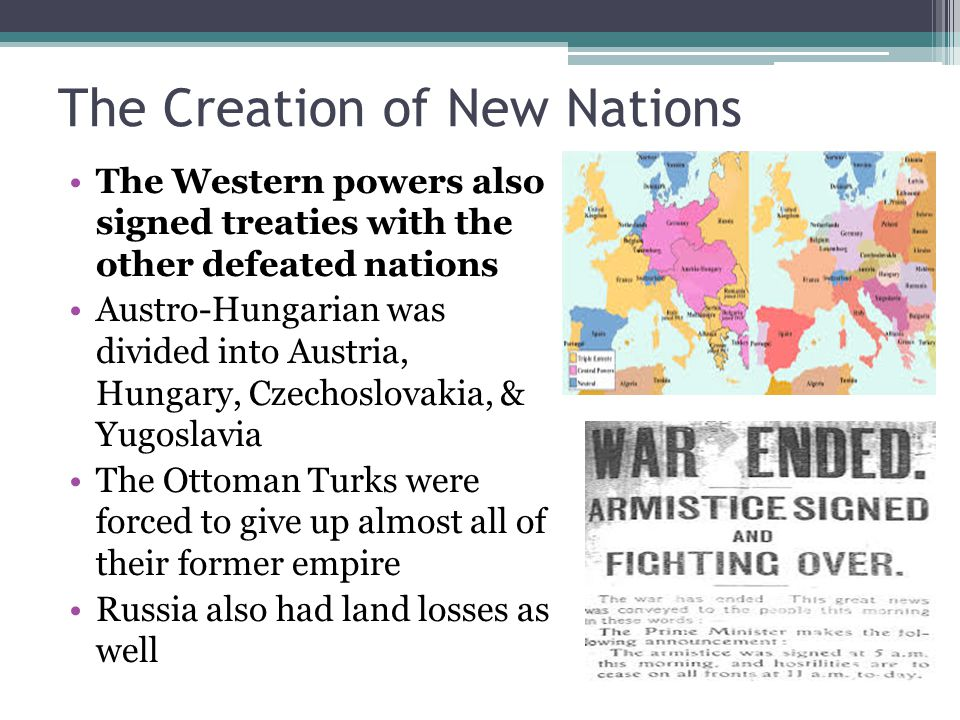 The Creation of New Nations