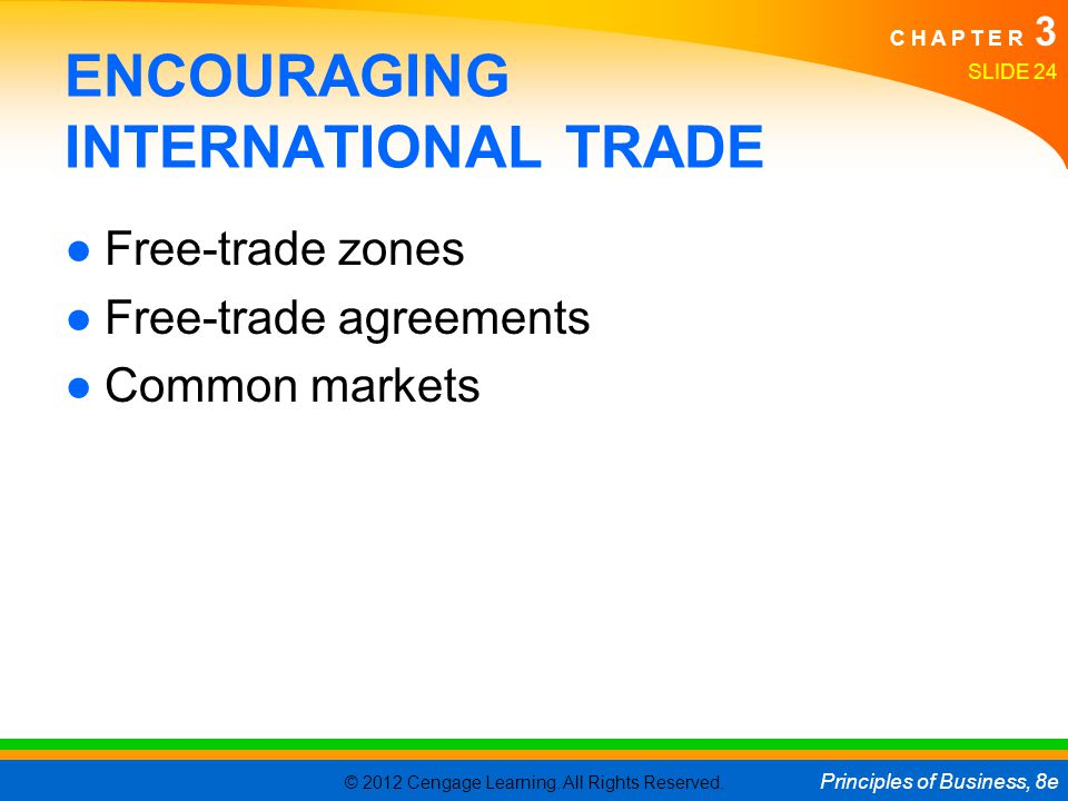 ENCOURAGING INTERNATIONAL TRADE