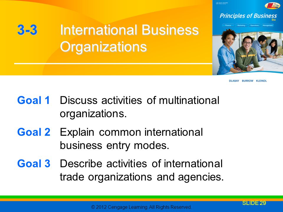 3-3 International Business Organizations