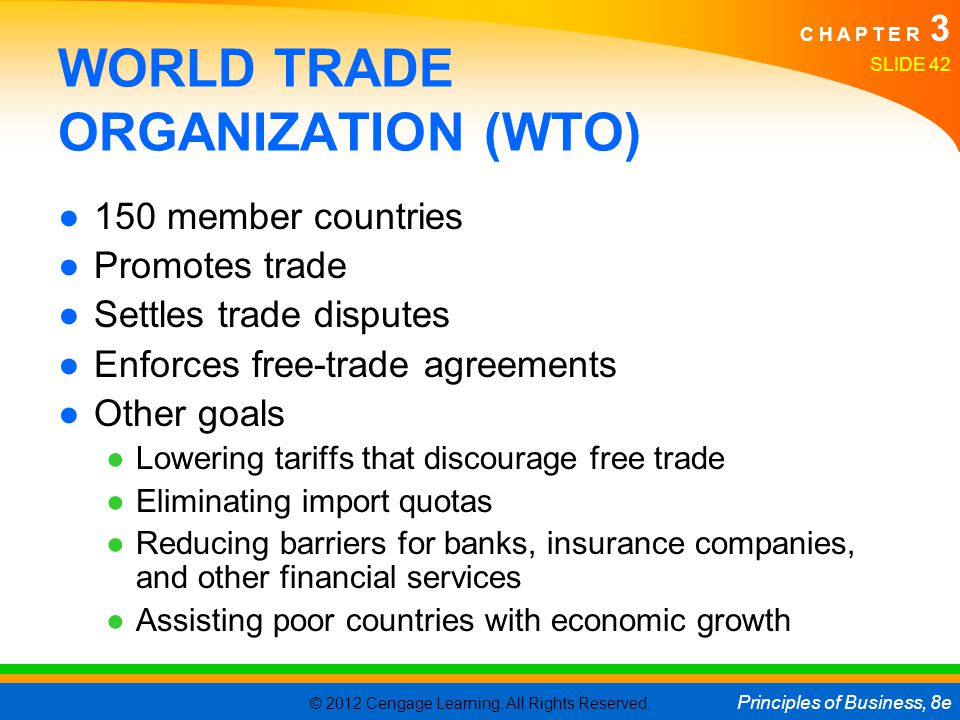 wto principles The world trade organization (wto) is the only global international organization dealing with the rules of trade between nations at its heart are the wto agreements, negotiated and signed by the bulk of the world's trading nations and ratified in their parliaments.