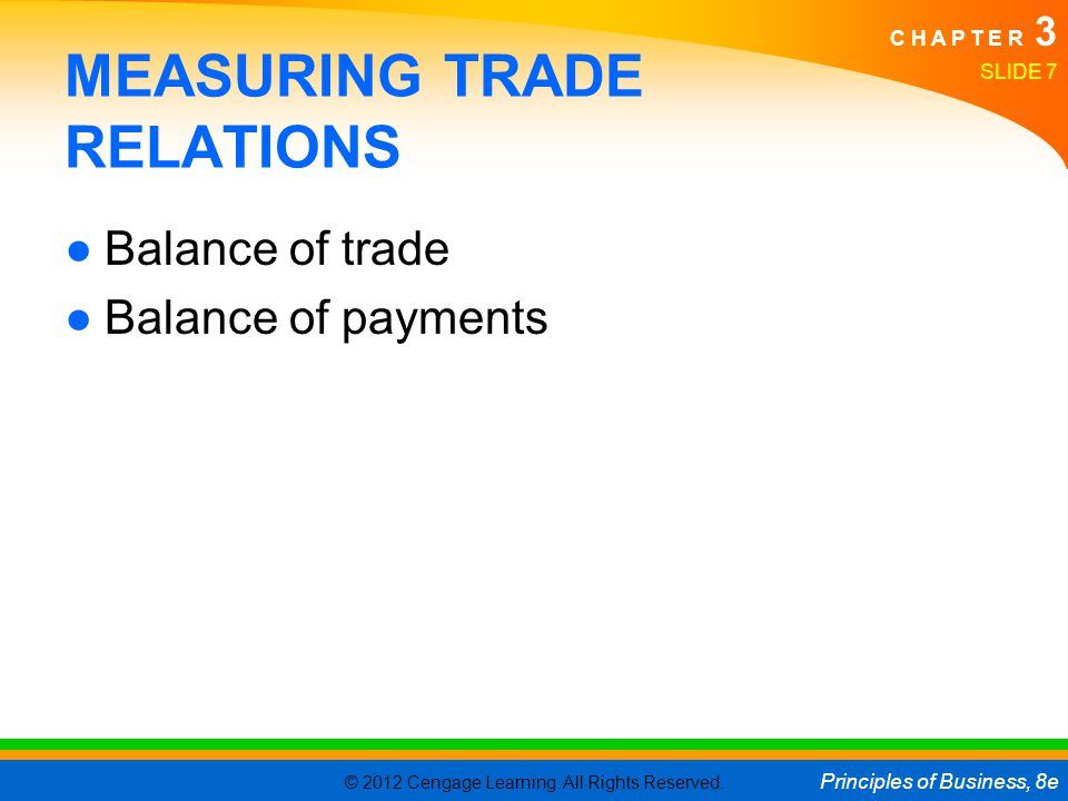 MEASURING TRADE RELATIONS
